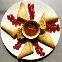Croustillants au foie gras, pommes et pain d'épices