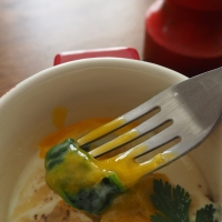 Oeuf cocotte épinards et parmesan